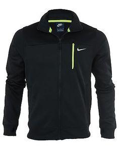 Nike Track Jacket Mens Style  Mens BLACK/VOLT 647488-010 Active Jackets SZ-L