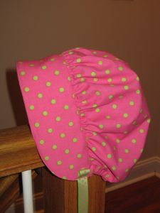 bonnet tutorial and link to pattern