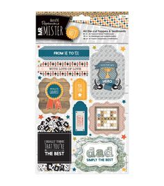 Papermania Mr. Mister A5 Die - Cut Toppers & Sentiments