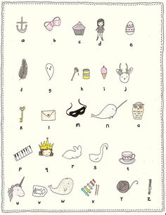 alphabet art for the little one in your life... gorgeous