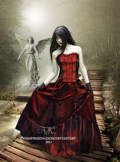 Estampas de Vampiros Serie: Vampiros en el cementerio Higher resolution image, click on image ♥ Credits Stocks ♥ Model ♥ Backgrounds ♥ This background is made exclusively fo...