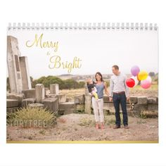 Personalized Calendar Gold Merry And Bright