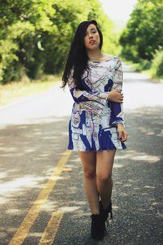 Look: o vestido com estampa de mapa por Bruna Vieira   Depois dos Quinze em abril 20, 2014