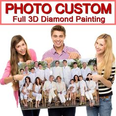 Make Your Own Diamond Painting Full Drill Diamond Rhinestone Embroidery Embroidery Materials, Custom Embroidery, Cross Stitch Embroidery, Cross Stitch Family, Diamond Drawing, Diamond Paint, Cross Paintings, Custom Photo, Custom Fabric