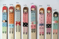 10 fantastic washi tape ideas- washi tape craft round up - top ten ideas for creating fabulous crafts with washi tape. Such great Washi Tape Ideas! Fun Crafts For Kids, Craft Stick Crafts, Diy For Kids, Activities For Kids, Craft Sticks, Eco Kids, Lollypop Stick Craft, Lollipop Sticks, Art Crafts