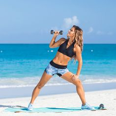 SINGLE ARM PRESS Tone It Up with your trainers Karena and Katrina, fitness and lifestyle trainers!