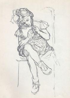 Figure Sketching, Figure Drawing, Sketch Painting, Figure Painting, Pencil Art Drawings, Drawing Sketches, Children Sketch, Sketches Of People, Dibujos Cute