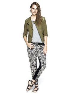 SISLEY - summer jacket and flower pants