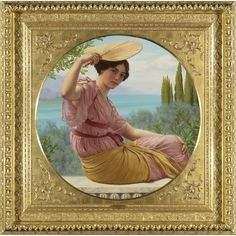 """Golden Hours (Expectancy)"" by John William Godward"