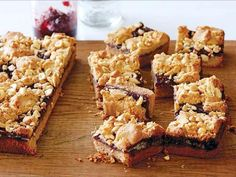 Fantastic Peanut Butter and Jelly Bars via Ina Garten