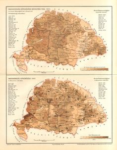 1896 Original Antique Population Density Map by CabinetOfTreasures