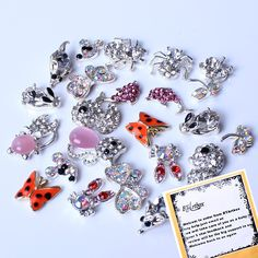 22 Pieces 3D Nail Art Super Cute Color Pearl Rhinestones Alloy Multi Animal Designs Reusable Nail Art Tips Decals Cat Butterfly Rabbit Duck -- For more information, visit image link.