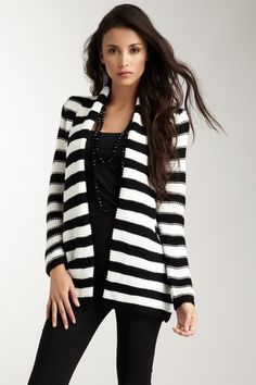 Vertigo -- Stripe Long Sleeve Sweater