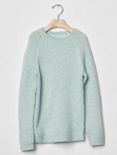 Metallic lurex raglan sweater Product Image