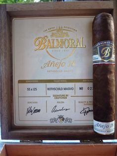 """Thierry et ses cigares: Balmoral Limited Edition """"Añejo 18 Rothshield Mass..."""