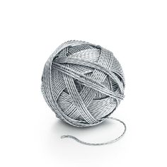 """""""Sterling silver ball of yarn"""" by Tiffany and Co., From the """"Everyday Objects"""" collection. Tiffany & Co., Elsa Peretti, Yarn Bombing, Ring Verlobung, Everyday Objects, Unique Home Decor, Decoration, Accent Decor, Thing 1"""