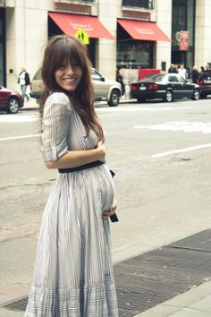 Wishing i was pregnant only because this looks adorable!!  @Aubrey Raglin high wasited maxi skirt just add a belt