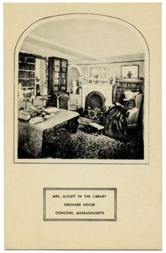 Mrs. Alcott in the library, Orchard House