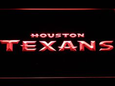 Houston Texans Text LED Neon Sign