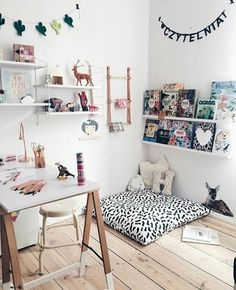 home workspace design inspirations; home office storage ideas for small spaces; home office ideas; Workspace Design, Home Office Design, Baby Bedroom, Girls Bedroom, Style Asiatique, Home Office Storage, Kids Corner, Reading Nook, Girl Room