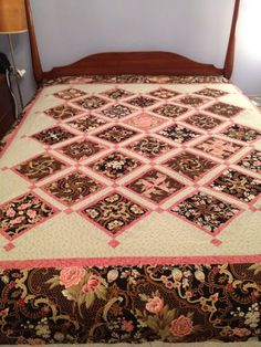 """""""Another 4-Patch Stacked Posy quilt I just made,from a pattern from HD Designs"""" From Bob Silverman"""