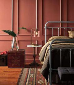 28 super ideas for dark wood bed room decor interior design gray Bedroom Paint Colors, Interior Paint Colors, Salon Interior Design, Paint Colours, Luxury Interior, Accent Wall Bedroom, Bedroom Decor, Bedroom Ideas, Bedroom Scene