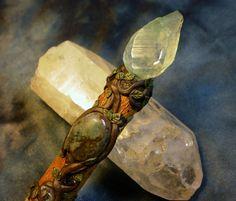 Wood Nymph  Willow wand by DreamweaverSpirit on Etsy, £50.00
