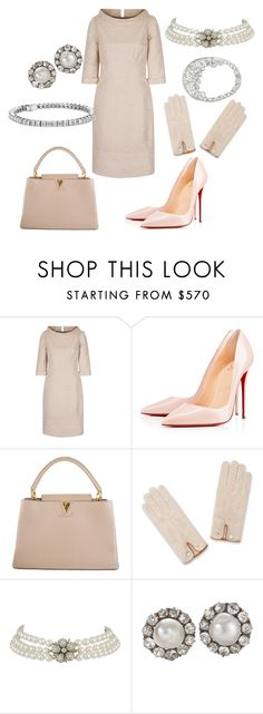 Christmas Luncheon for The Valencian Women Association by queenalex on Polyvore featuring мода, Christian Louboutin, Louis Vuitton and Blue Nile