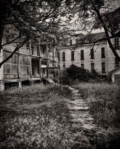 The old Traverse City State Mental Hospital, also known as the Northern Michigan Asylum. (photography by James Howe)