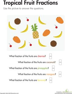 math worksheet : fraction fruit  fractions worksheets and fruit : Fractions Of Sets Worksheets