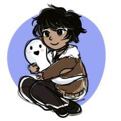 Nico and his ghost teddy bear