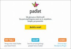 Padlet es una app que te permite crear muros digitales de una manera colaborativa