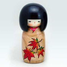 BESTJAPAN   #kokeshi #japanese #usaburo #japan Japanese Kokeshi Doll - Hanamonogatari Momiji