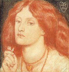 Dante Charles Gabriel Rossetti -- Portrait of Elizabeth Siddal