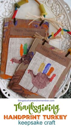 Thanksgiving Handprint Turkey Keepsake Craft