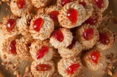 Cherry and Almond Biscuits
