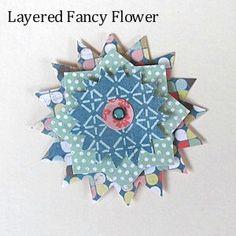 Free Paper Flower Patterns - Free Pattern Library 5: Fancy Flower Layered Pattern