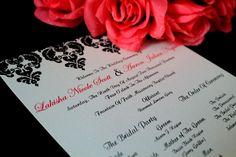 1 page wedding program ( Dmask Design)