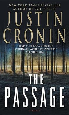 The Passage: A Novel by Justin Cronin - An epic and gripping tale of catastrophe and survival, The Passage is the story of Amy—abandoned by her mother at the age of six, pursued and then imprisoned by the shadowy figures behind a government experiment of apocalyptic proportions. (Bilbary Town Library: Good for Readers, Good for Libraries)