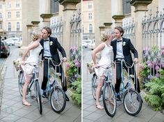 Hochzeitsfotografie Erfurt Bike Wedding, Wedding Ceremony, Rembo Styling, Real Weddings, Gowns, Inspiration, Bicycle Wedding, Shoulder Dress, Erfurt