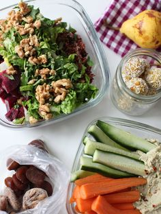 Recipes and Tips for Healthy Travel | My New Roots  Mmmm -- want to try the rice and beet salad, and the roasted garlic and white bean dip.