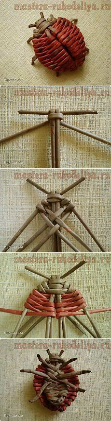 Master crafts - Crafts house. Free workshops, photo and video tutorials - Master class on weaving from newspapers: Ladybug