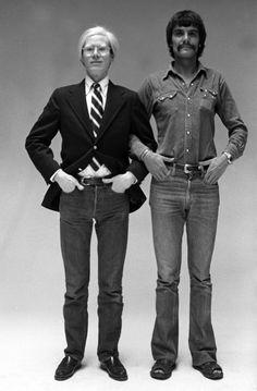 Mr. Blazer, Tie, And Jeans.Andy Warhol, with Oliviero Toscani.