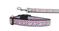 Nylon Dog Collar or Leash Confetti Paws by DirtRoadDog on Etsy