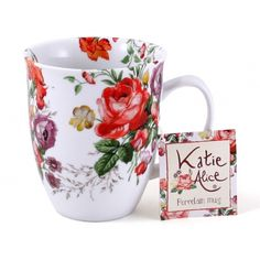 Katie Alice - Scarlet Posy Porcelain White Floral Mug