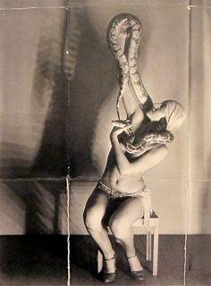 Miss Dorita, Snake Charmer by Man Ray 1930