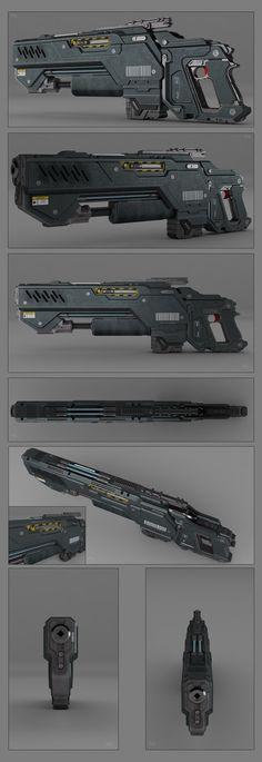 Battle rifle concept by *peterku on deviantART
