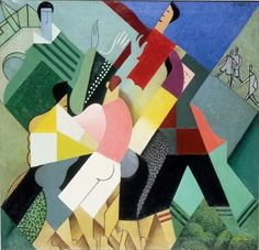 Rugby Expo 1917 by Andre Lhote (French - Centre Pompidou Rene Magritte, Georges Braque, Pablo Picasso, Pompidou Metz, Cubism Art, Ouvrages D'art, Palette Knife Painting, Art Moderne, Sports Art