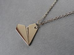 love is in the air by faith on Etsy necklace, airplane, paper airplane, love, valentine's day, flight attendant, vintage style