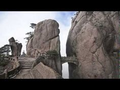 The Fantasy Sky Bridge high up on Yellow Mountain or Huangshan in Anhui Province, China. or Walking Fairy Bridge? or Bridge of the Immortals? Places To Travel, Places To See, Scary Bridges, Sky Bridge, Stairway To Heaven, Zhangjiajie, China Travel, Wonders Of The World, The Good Place
